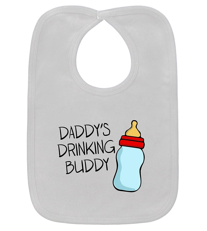 Daddy's Drinking Buddy Funny White Bib 100% Cotton NPT-D33-393