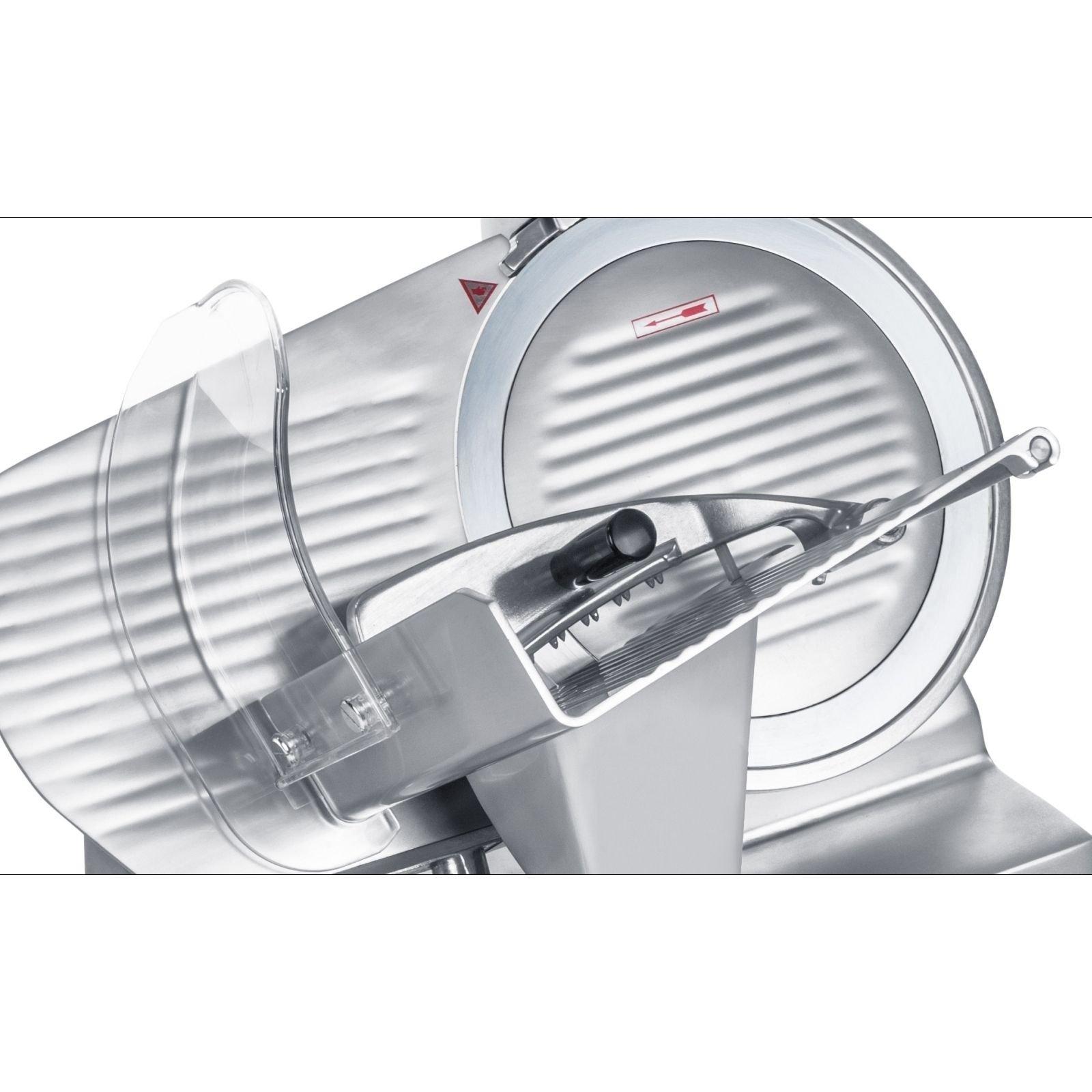 Con Afilador Integrado, Di/ámetro Cuchilla 220 mm, Grosor De Corte: 0-12 mm Royal Catering Cortafiambres M/áquina Para Carnicer/ía RCAM 220PRO