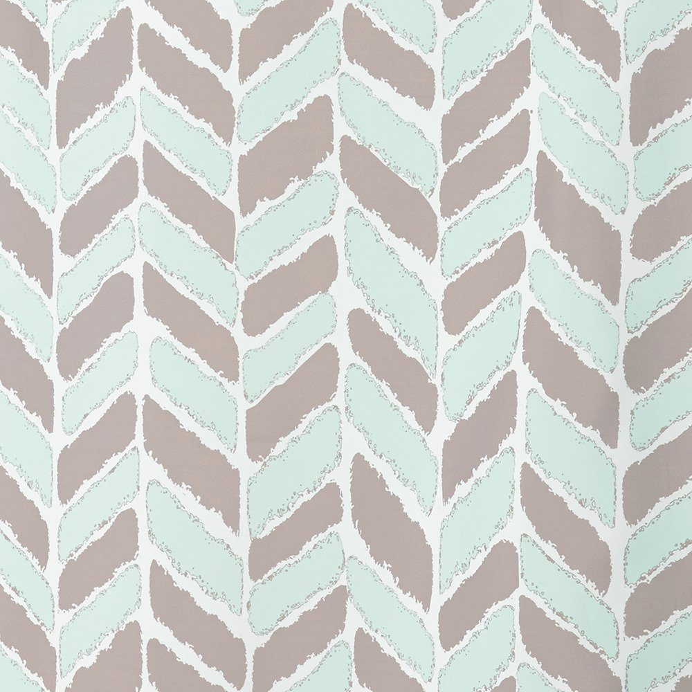 iDesign Kylie Fabric Shower Curtain Mint,183 x 183 cm
