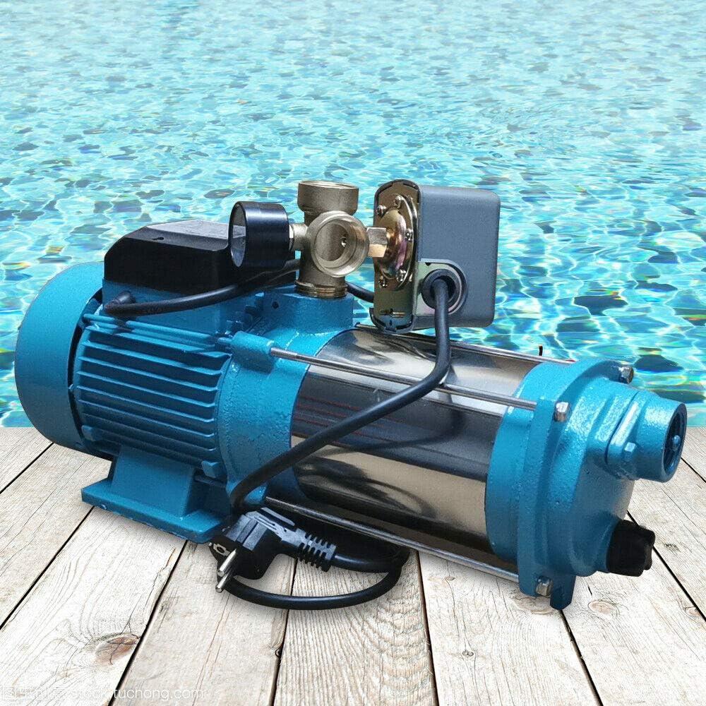 WUPYI2018 1300W Kreiselpumpe Hauswasserwerk Gartenpumpe Mit Druckschalter 6000l//h