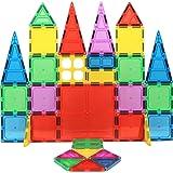 Magnet Build Magnet Tile Building Blocks Extra Strong Magnets & Super Durable 3D Tiles, Educational, Creative, Assorted Shape