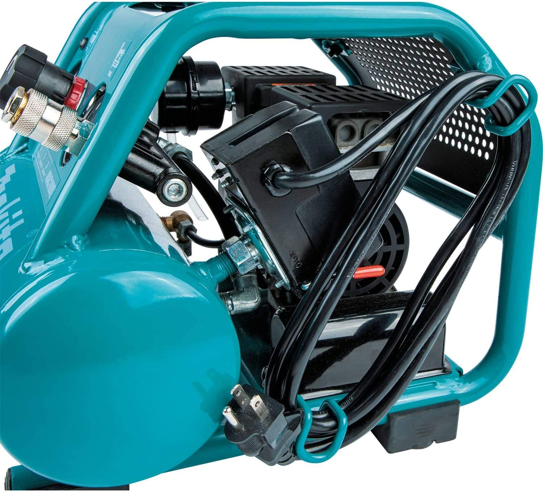 Oil-Free Makita MAC100QK1 Quiet Series 1//2 HP and 18 Gauge Brad Nailer Combo Kit 1 Gallon Compact Electric Air Compressor