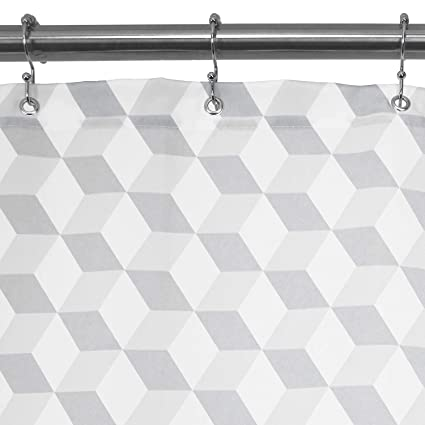 Barossa Design Fabric Geometric Shower Curtain