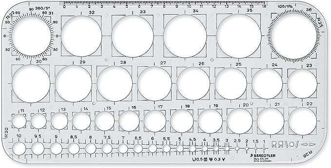 Image ofStaedtler 576 01 F - Plantilla de círculos, transparente