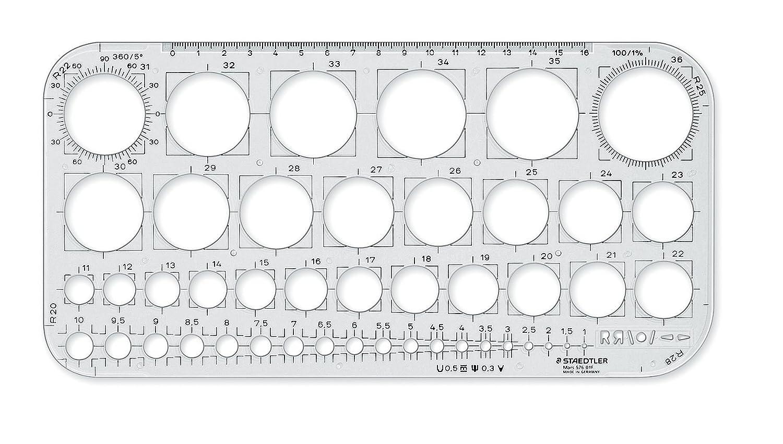 Staedtler 576 01 F - Plantilla de círculos, transparente: Amazon.es ...