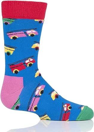Happy Socks Calcetines de algodón para niños y niñas, diseño de coche de bomberos