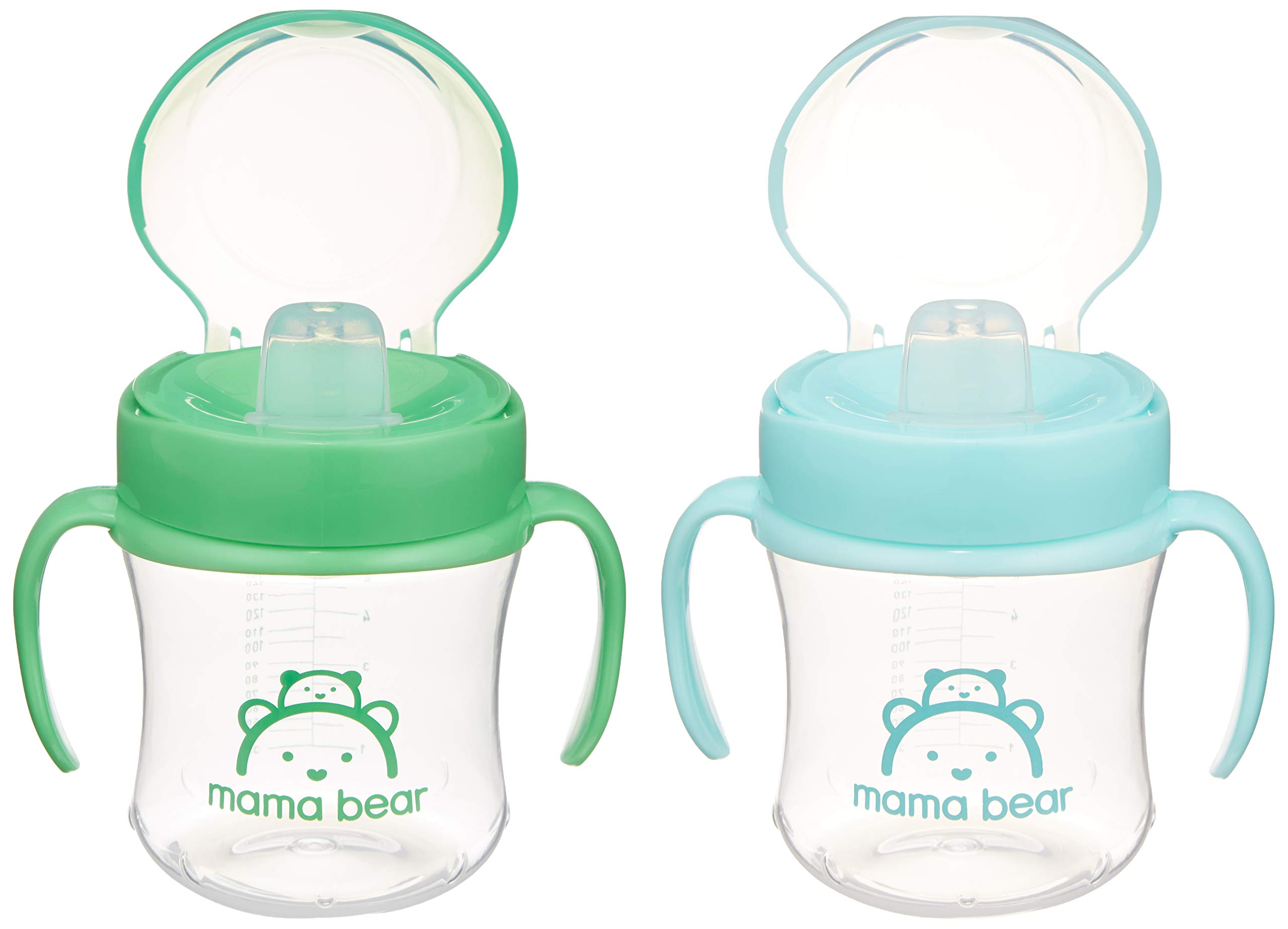 Amazon Brand - Mama Bear Transition Cup (Pack of 2)
