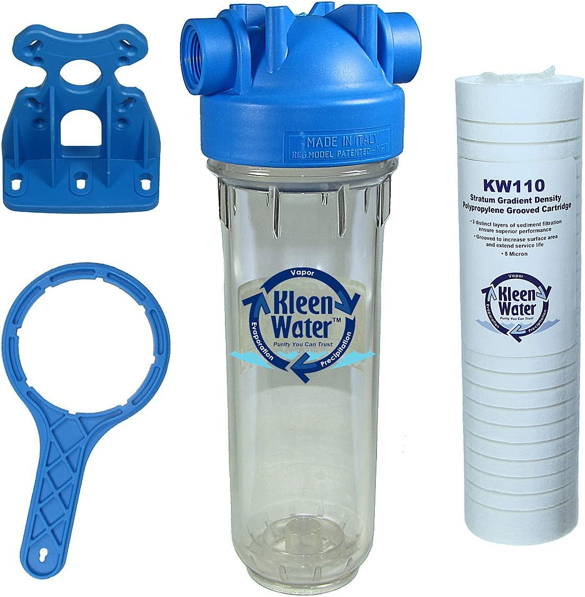 KleenWater KW2510HT Premier Water Filter System Made in Italy
