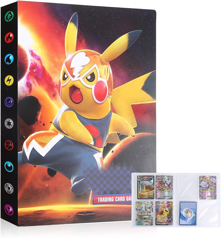 Cpano Album di archiviazione delle Carte per Pokemon Trading Carsd,Contiene Fino a 396 Carte Raccoglitore per Album Portatile Compatibile con 22 Pagine Premium da 18 Tasche. Marrone