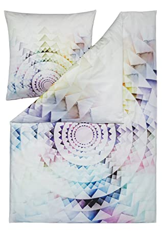 Estella Bettwäsche Circle Multicolor Größe 135x200 Cm 80x80 Cm
