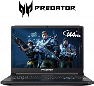 "Acer Predator Helios 300 Gaming Laptop PC, 15.6"" Full HD 144Hz 3ms IPS Display, Intel i7-9750H, GeForce RTX 2060 with 6GB, 16GB DDR4, 512GB PCIe NVMe SSD, RGB Keyboard, PH315-52-72EV"