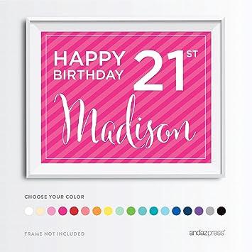 Famous Amazon.com: Andaz Press Personalized Milestone Birthday Wall Art  YS99