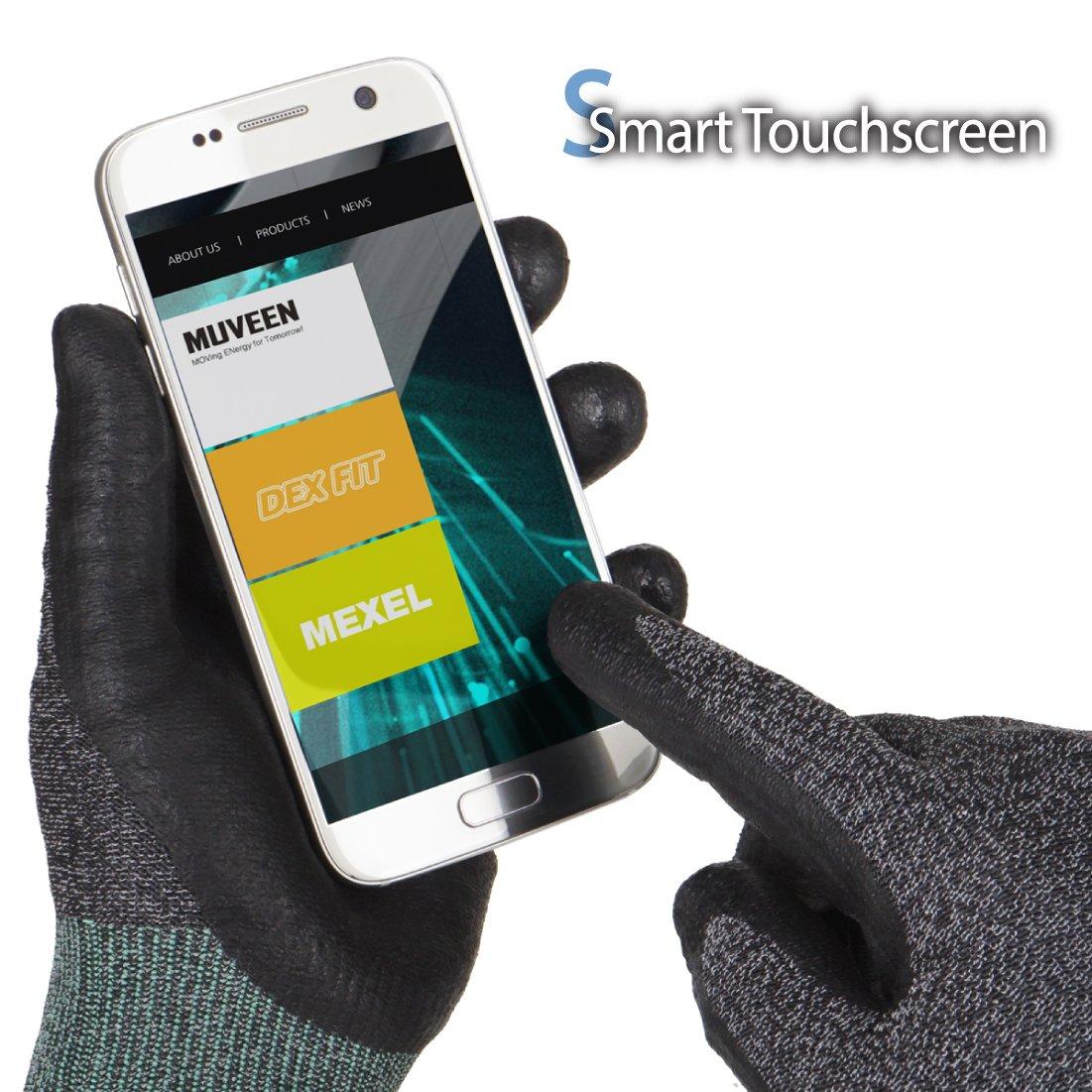 Smart Touch DEX FIT Guanti da lavoro FN330 Power Grip Grigio X-Grande 3 Pairs lavabile in lavatrice Schiuma di nitrile Durable sottile Nylon Spandex 3D Comfort Stretch Fit