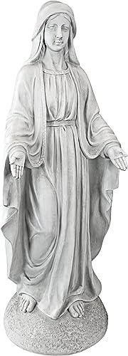 Design Toscano VG55436 Madonna of Notre Dame Religious Garden Decor Statue