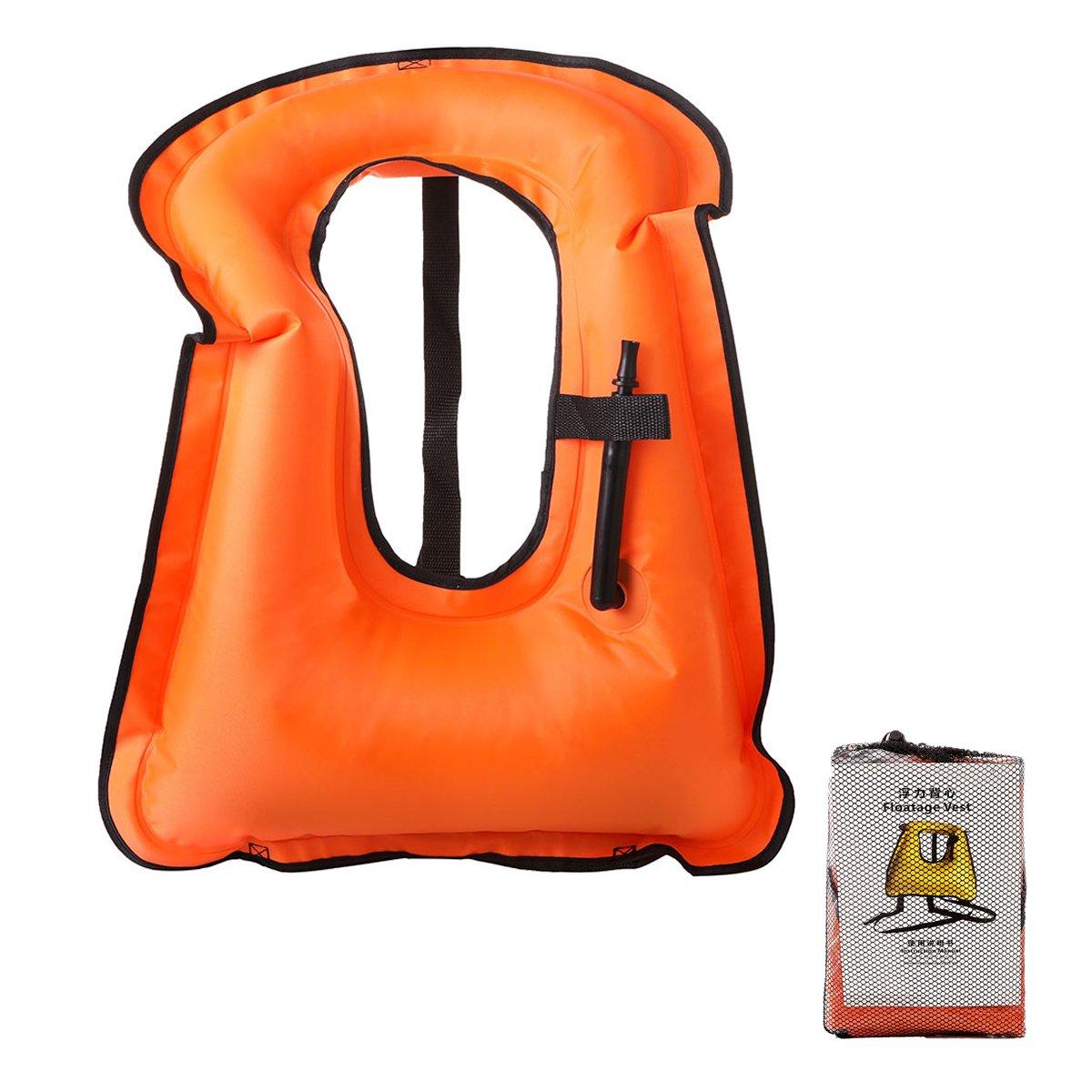 高級品市場 elejolieインフレータブルSnorkel Jacket for 80 Adult、ダイビング安全ライフジャケット浮力ベストポータブルFree Diving安全ジャケット – Suitable Suitable 99.79 for 80 – 99.79 オレンジ B07BHDJDRN, ザッカズ生活雑貨がいつでも特価:58e97c41 --- a0267596.xsph.ru
