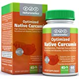 Native Curcumin - Patented High Absorption Turmeric Supplement - 10x More Curcuminoids Working on Joints & Overall Health - 60 Vegan Capsules - Independently Tested - Non-GMO - Gluten Free