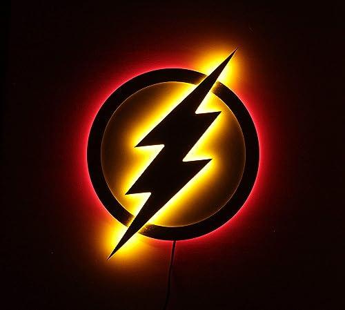 Justice League LED Illuminated Night lights Flash lamp Superhero Lamp