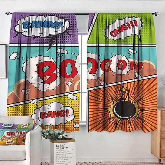 Amazon.com: Superhero,Curtains and Drapes Comic Book Style ...