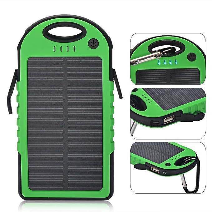 Amazon.com: 300000 mAh impermeable Cargador Solar Dual USB ...