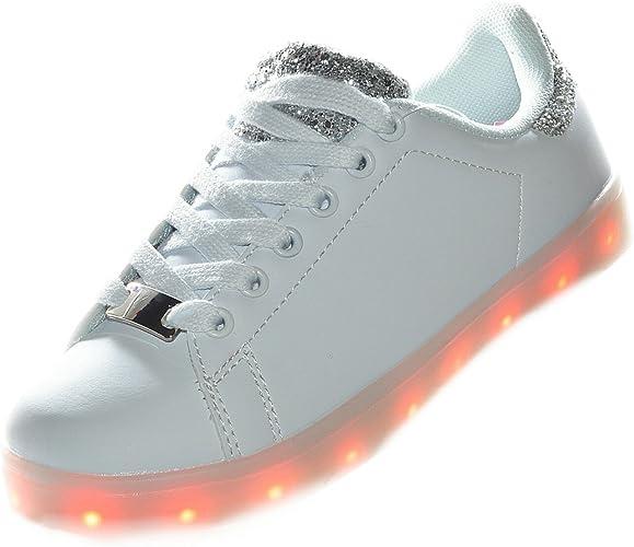 Envio 24 Horas Usay like Zapatillas LED con Luces Carga USB Blanco ...