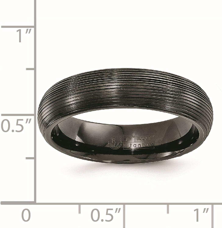 8 Jay Seiler Titanium 6mm Textured Band Titanium Size