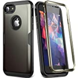 YOUMAKER Metallic Designed for for iPhone 8 & iPhone 7, Full Body Rugged with Built-in Screen Protector Heavy Duty Protection