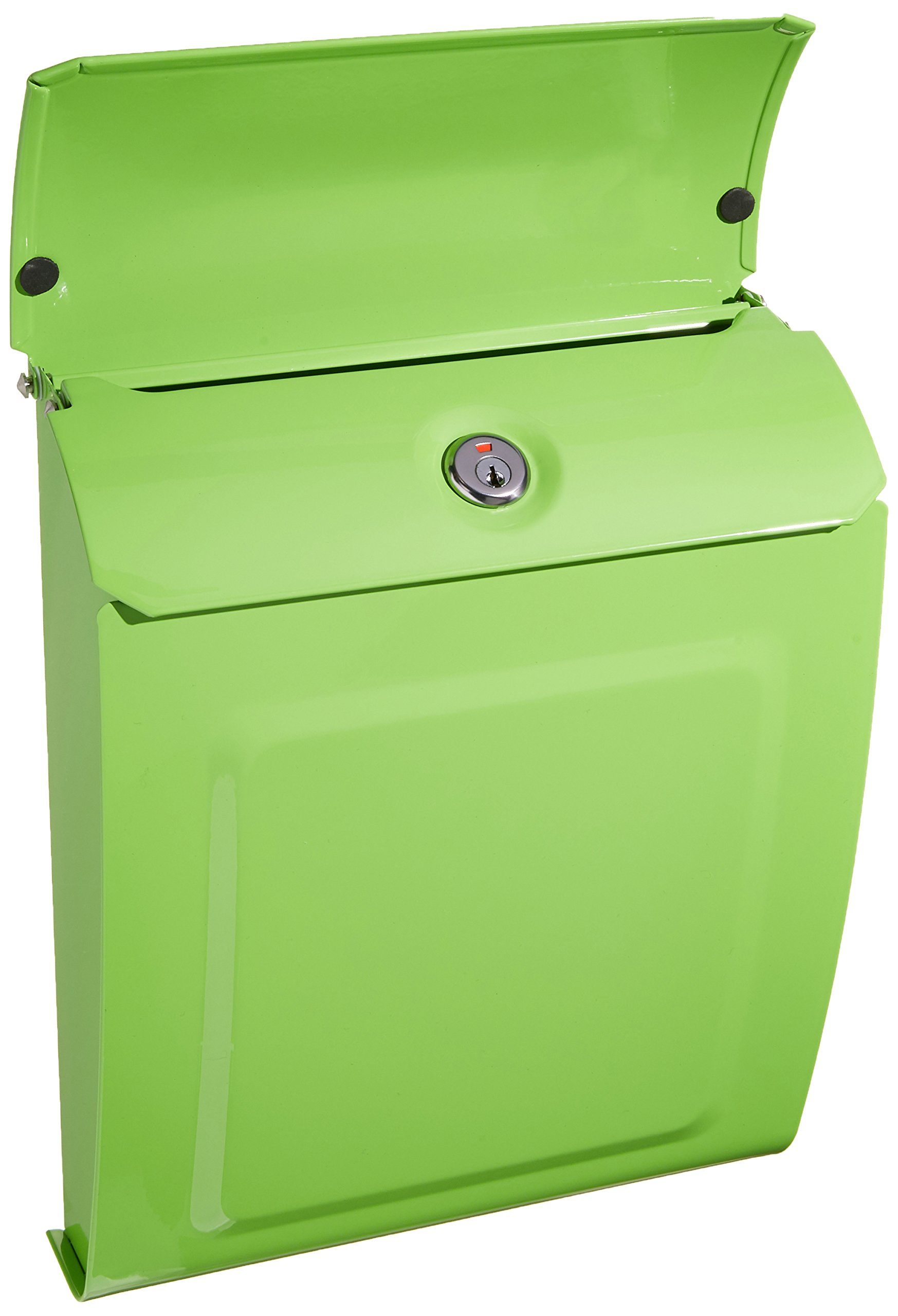 ARCHITECTURAL MAILBOXES 2594LG Architectural Mailboxes Aspen Locking Wall Mount Mailbox Lime Green Aspen Locking Wall Mount Mailbox, Small, Lime Green by ARCHITECTURAL MAILBOXES (Image #2)