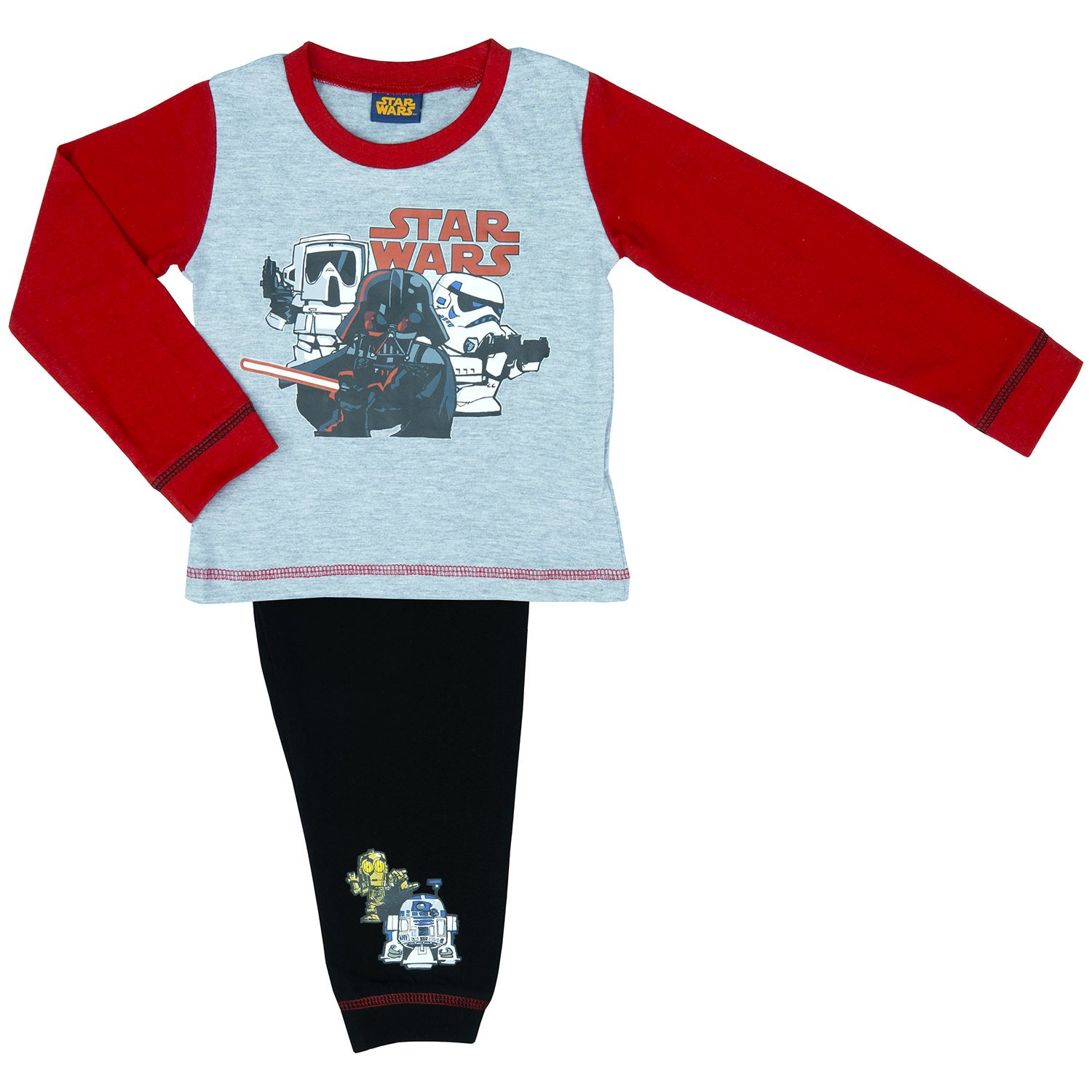 Boys Star Wars Cartoon Pyjama Set - Ages 18 month - 5 Years