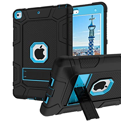 bc2388e1b0ea iPad 6th Generation Cases, iPad 2018 Case, iPad 9.7 Inch Case,Hybrid  Shockproof Rugged Drop Protection Cover Built with Kickstand iPad 9.7 inch  ...