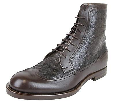 7a3169ac3f1b2 Amazon.com  Gucci Men s Leather Ostrich Lace up Ankle Boots 322508  Shoes