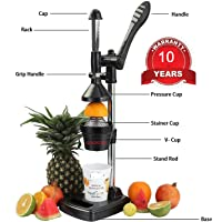 Meehim Aluminium Safalart Hand Press Citrus Juicer Big(Black)
