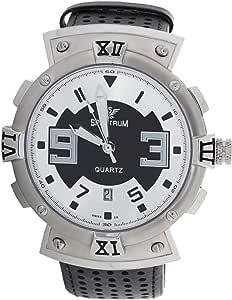سبيكتروم ساعة يد رجالية انالوج بعقارب جلد , 92857M