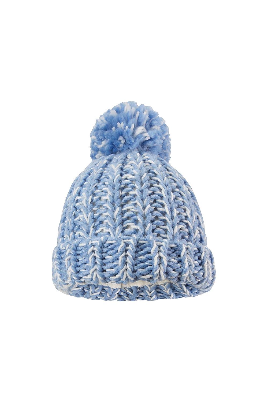 Inverno Accogliente per Viaggiare Mountain Warehouse Chunky Berretto in Maglia per Bambini Ragazzi e Ragazze Pom Pom Cappello Caldo per Bambini Berretto Carino