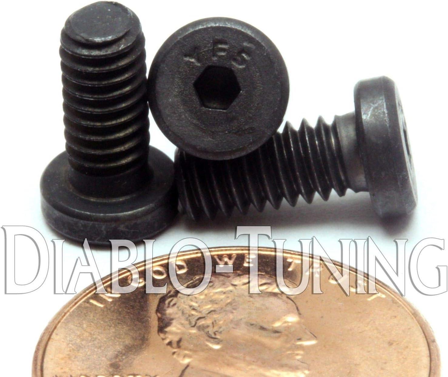 "Qty 20 #8-32 x 3//8/"" Button Head Socket Cap Screw-Black Oxide Stainless Steel"