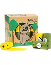 YORJA Dog Poo Bags,24 Rolls/360 Pooh Bags,Extra Thick and Strong,Leak Proof,Biodegradable Poop Bags for Dogs,Unscented Waste Bag