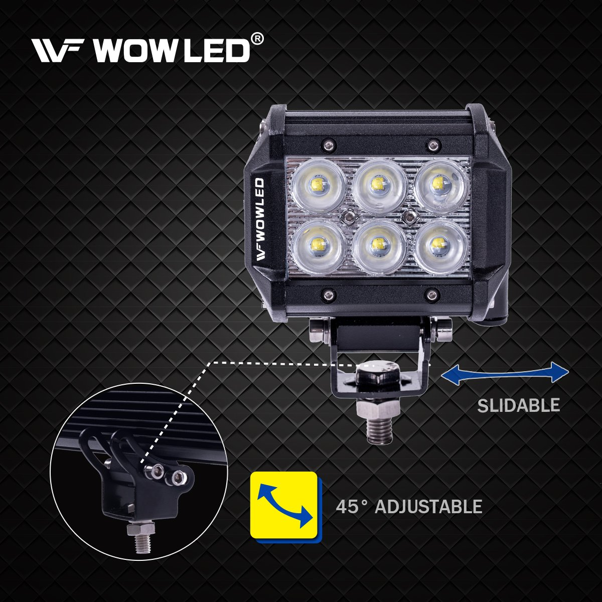WOWLED Driving Light Wiring Harness PVC Wiring Switch Relay Fuse Kit for Connect 2 LED Driving Work Light 4x4 Truck