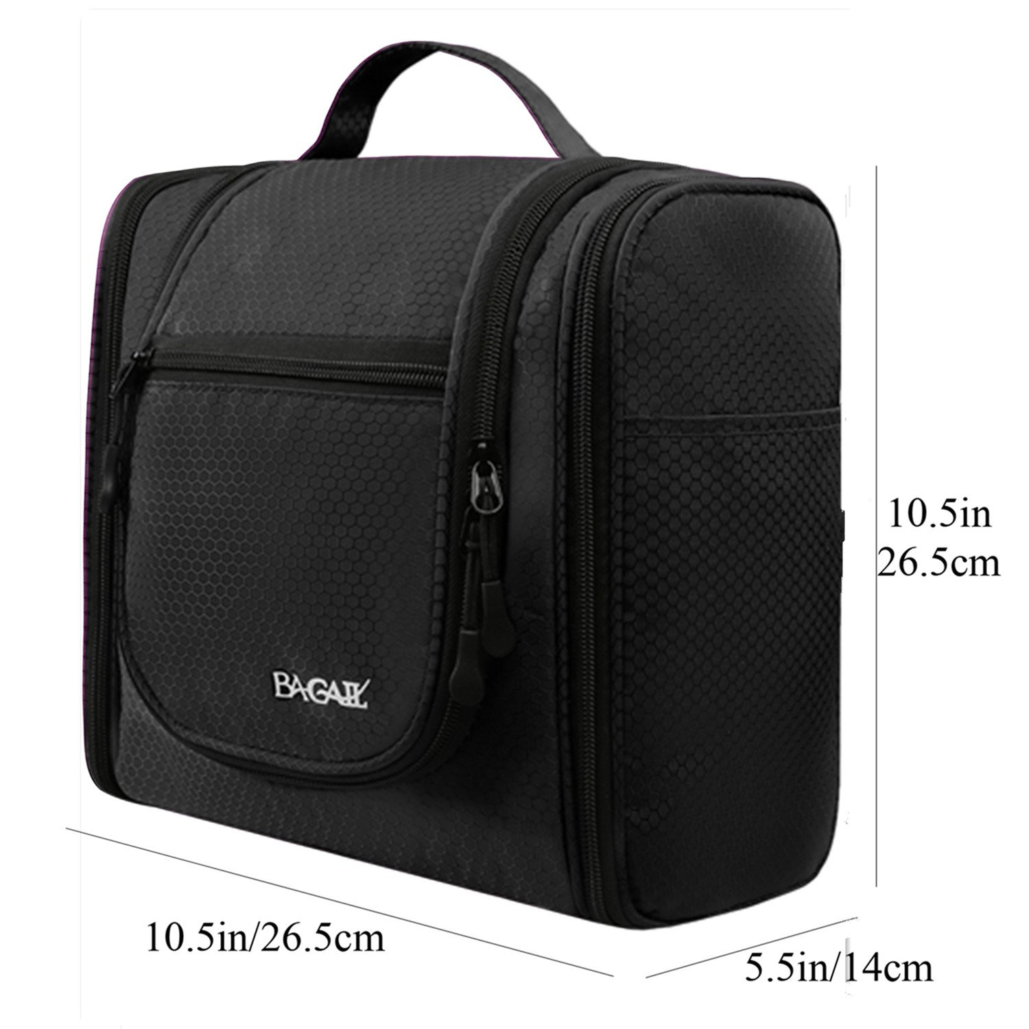 7097b788335 Bagail Men & Women Toiletry Bag for Makeup, Cosmetic, Shaving, Travel  Accessories, Personal Items -Hotel, Car, Home, Bathroom, Airplane Hanging  Toiletries ...