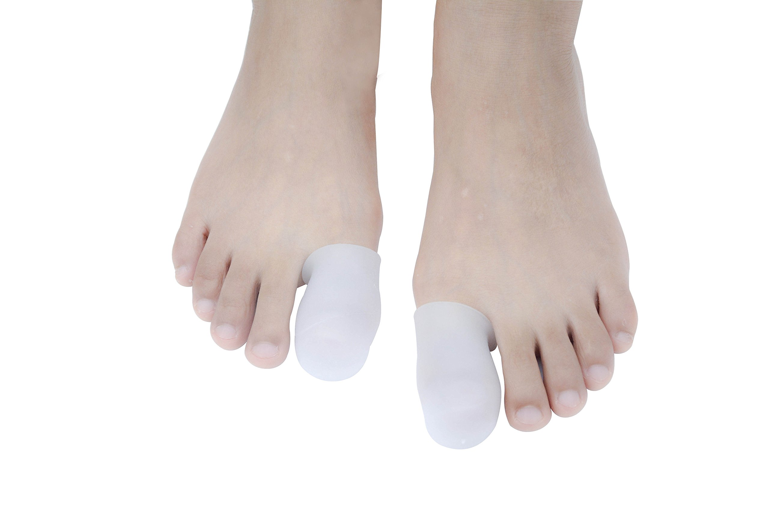 JK.Toes 10 Pack Big Toe Caps Protectors, Gel Toe Covers - Cushion for Corns, Calluses, Blister, Ingrown Toenail and Reduce Friction