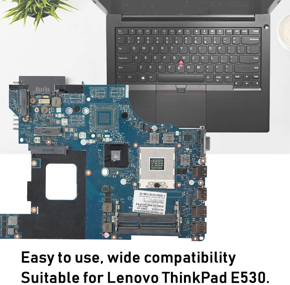 Wendry Laptop Motherboard,Wide Compatibility,Professionally Designed,Motherboard has high and Stable Performance,Small Size and Light Weight for ThinkPad E530 Laptop Motherboard ABS+Chip Main Board