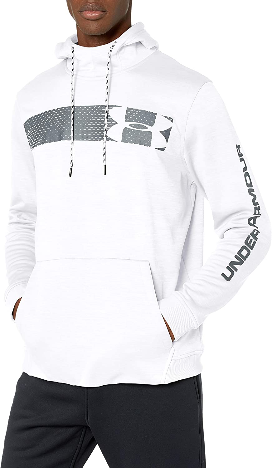Under Armour Men's Armour Fleece Pullover Hoodie Bar Logo Graphic