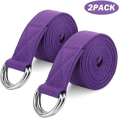 MoKo Yoga Correa - [2 Pzs] Durable Algodón Suave de Estiramiento ...