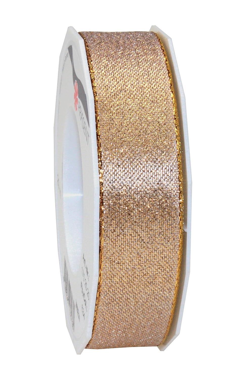 Prasent 5 mm 50 m Wien Metallic Mesh Ribbon, Gold 1750550-634