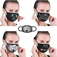 3Pcs Adults Funny Anime Face Mask No Fog Masks for Glasses Wearers Balaclava Washable Reusable Bandana Cosplay Men Women