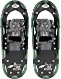 Redfeather Men's Hike Recreational Series Snowshoes, Available In 22, 25, 30 & 36 Inch Lengths, Aluminum Frame, SV2 Bindings, Live Action Hinge, Sure Grip Crampon, & Rip Stop Decking - 1600