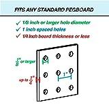 Pegboard Bins - 12 Pack Black - Hooks to Any Peg