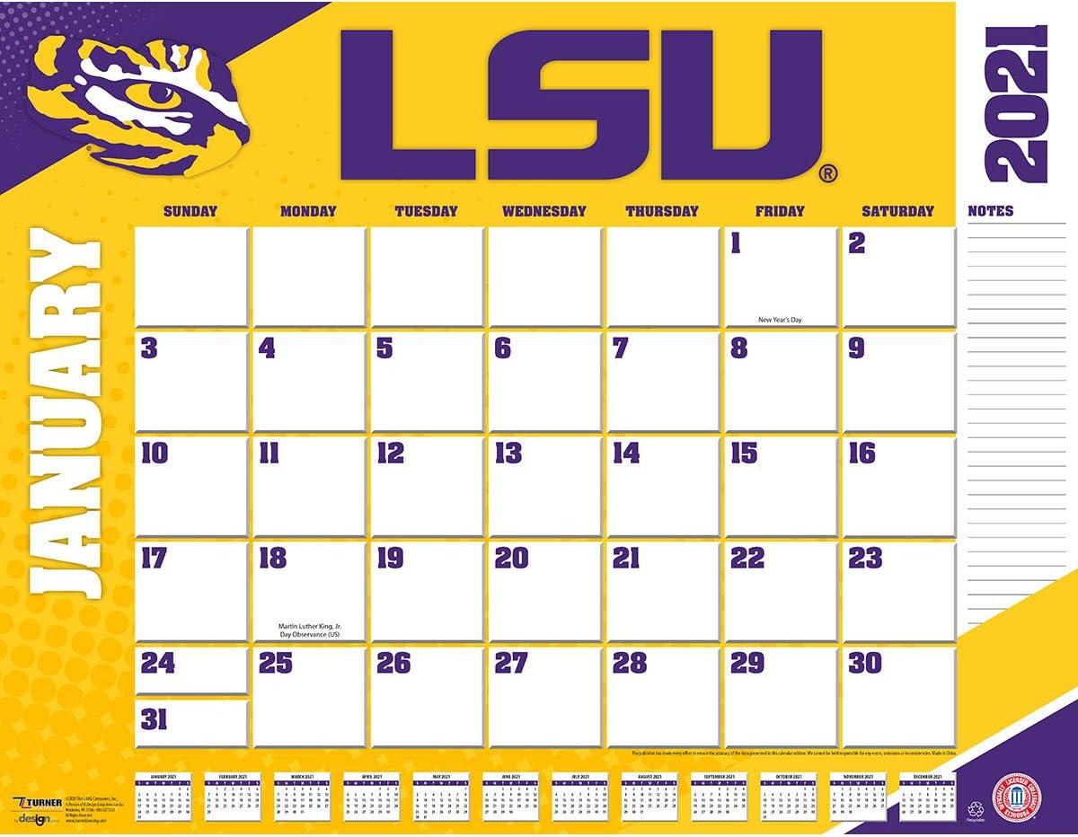 TURNER Sports LSU Tigers 2021 22X17 Desk Calendar (21998061482)