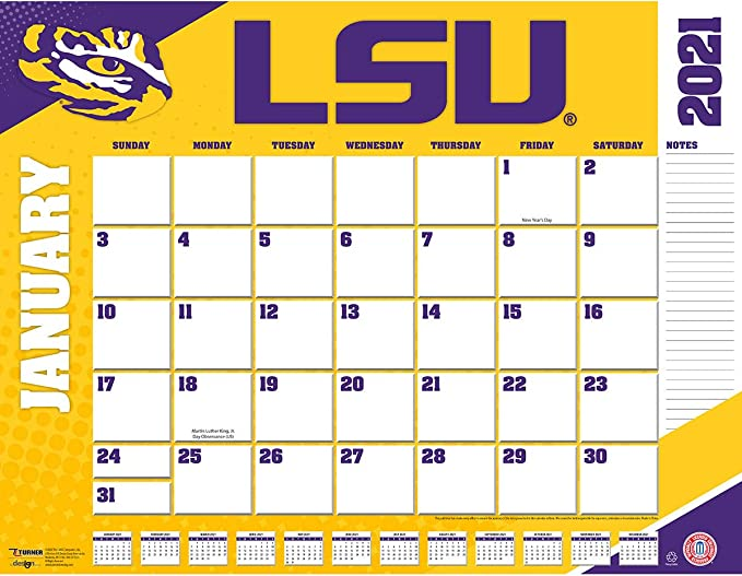 Lsu Calendar 2021 Amazon.: TURNER Sports LSU Tigers 2021 22X17 Desk Calendar