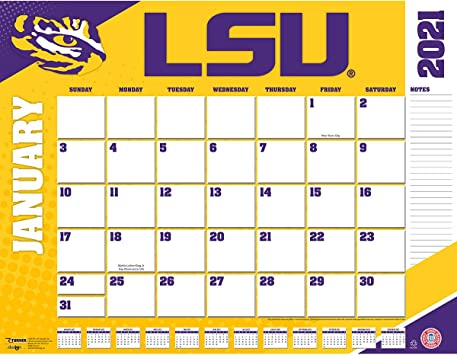 Amazon.: TURNER Sports LSU Tigers 2021 22X17 Desk Calendar
