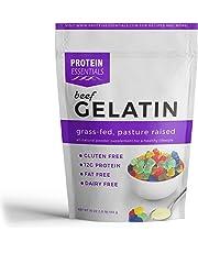 Protein Essentials Gelatin, Pasture-Raised, Grass-Fed, Non-GMO, Beef Gelatin (16 oz)