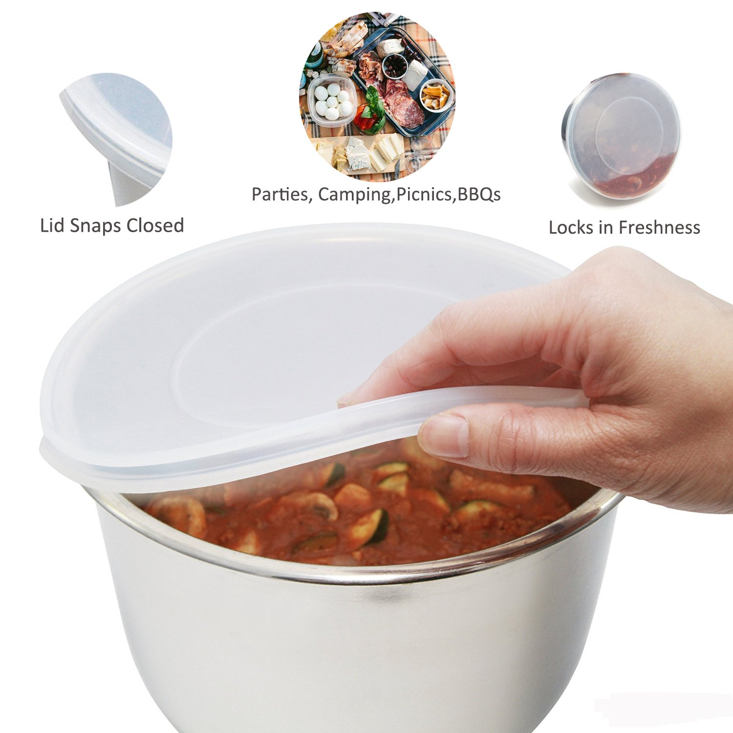 Silicone Lid Cover Fits 5 or 6 Quart, STYDDI Silicone Cover for Instant Pot Inner Pots Fits IP-DUO60, IP-LUX60, IP-DUO50, IP-LUX50, Smart-60, IP-CSG60 and IP-CSG50 by STYDDI (Image #3)